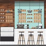 现代咖啡店 免版税库存图片