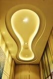 现代商业大厦被带领的天花板  免版税库存图片