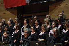 现代土耳其古典音乐唱诗班 免版税库存照片
