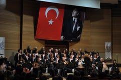 现代土耳其古典音乐唱诗班 图库摄影