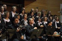 现代土耳其古典音乐唱诗班 库存图片