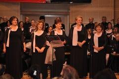 现代土耳其古典音乐唱诗班 免版税图库摄影