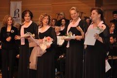 现代土耳其古典音乐唱诗班 库存照片