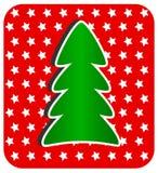现代圣诞树 库存照片