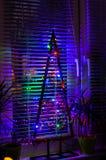 现代圣诞灯装饰 免版税图库摄影