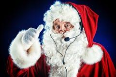 现代圣诞老人 库存图片
