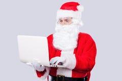 现代圣诞老人 图库摄影
