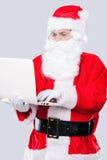 现代圣诞老人 库存照片
