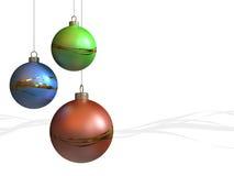 现代圣诞节的装饰品- 库存照片