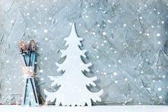 现代圣诞节装饰 库存图片