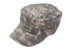 现代在白色背景的美国军队盖帽 库存照片