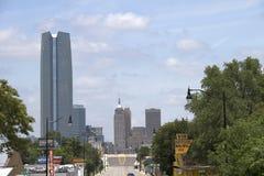 现代城市俄克拉何马美丽的街市  图库摄影