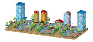 现代城市分界线 免版税库存照片