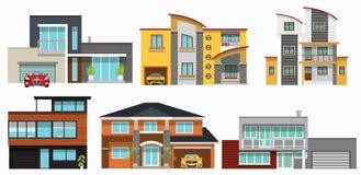 现代城市房子 免版税图库摄影
