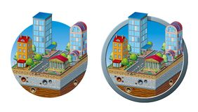 现代城市概念象 免版税库存图片