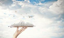 现代城市模型 免版税库存图片