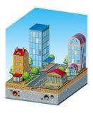 现代城市的概念 库存照片