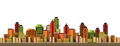 现代城市的横向 图库摄影