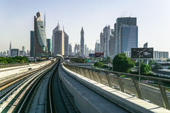 现代城市迪拜地铁 免版税库存图片