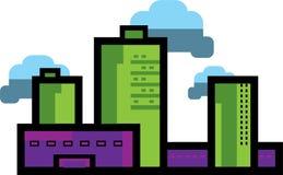 现代城市都市风景 免版税库存图片