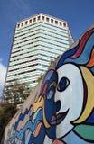 现代塔在热那亚意大利 免版税图库摄影