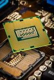 现代处理器和主板 库存照片
