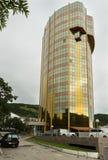 现代多层的商业中心在彼得罗巴甫洛斯克Kamchatsky 库存照片