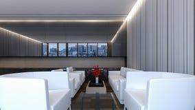 现代大厅休息室/3D翻译 免版税库存照片