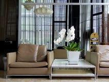 现代大厅室内设计 免版税库存图片