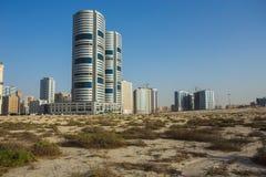 现代大厦全视图在沙扎 免版税库存照片