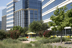 现代大厦和风景设计 免版税库存照片