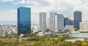 现代大厦在大阪,日本 库存图片