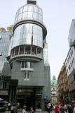 现代大厦在奥地利Stephansplatz,维也纳, 免版税库存图片