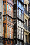现代派大厦在奥维耶多,阿斯图里亚斯 免版税库存照片
