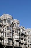 现代派大厦在奥维耶多,阿斯图里亚斯 库存照片