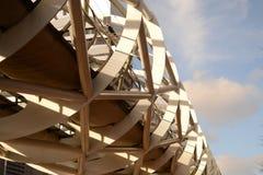 现代大厦在小室Haag 免版税图库摄影