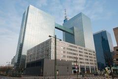 现代大厦在布鲁塞尔 免版税图库摄影