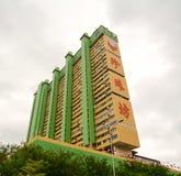 现代大厦在新加坡唐人街  库存图片