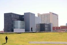 现代大厦在普埃布拉 免版税图库摄影