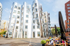 现代大厦在杜塞尔多夫 免版税库存图片