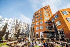 现代大厦在杜塞尔多夫 免版税库存照片