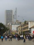 现代大厦在波哥大,哥伦比亚 免版税图库摄影