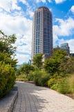 现代大厦在波士顿-美国财政区  库存图片