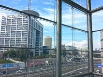 现代大厦在特拉维夫市中心 以色列 库存照片