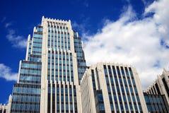 现代大厦在莫斯科市 免版税库存图片
