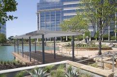 现代大厦在霍尔公园Frisco 免版税库存图片
