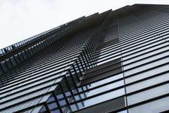 现代大厦外部抽象重复的样式 免版税库存图片