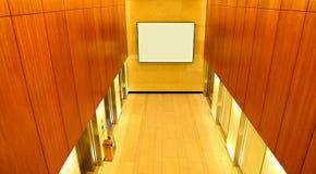 现代大厦电梯大厅 库存照片