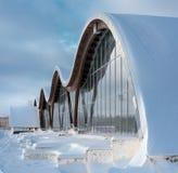 现代大厦的片段与结构玻璃墙的 免版税图库摄影