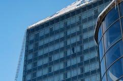 现代大厦的要素 结构上作为背景是能构成使用 免版税库存照片